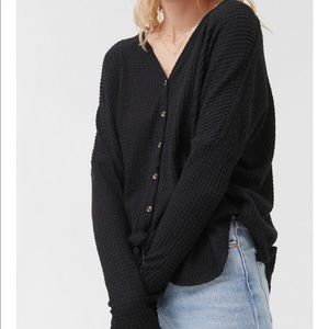 Out From Under Jojo Oversized Button-front Top